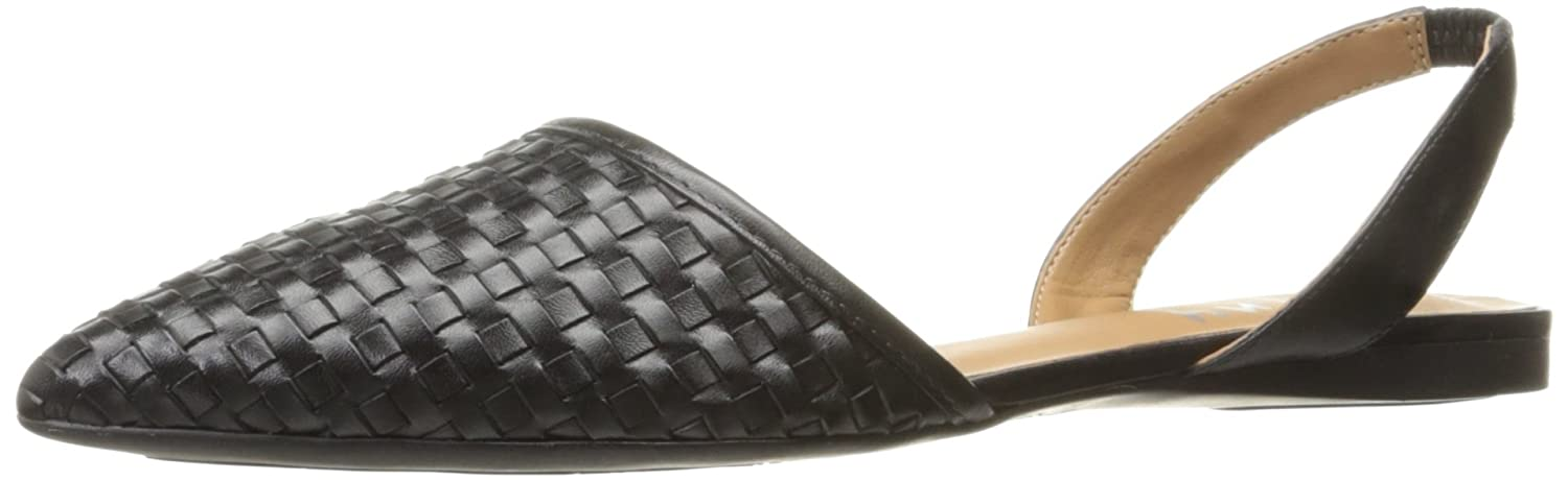 French Sole FS/NY Women's Volume Pointed Toe Flat B01LYWKQVR 6.5 B(M) US|Black Leather