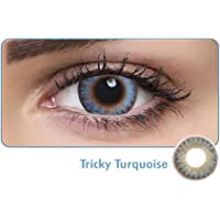 Aqua Color Daily Disposable Color Contact Lens (10 Lens/Box/Plano) (Tricky Turquoise, 0.00)