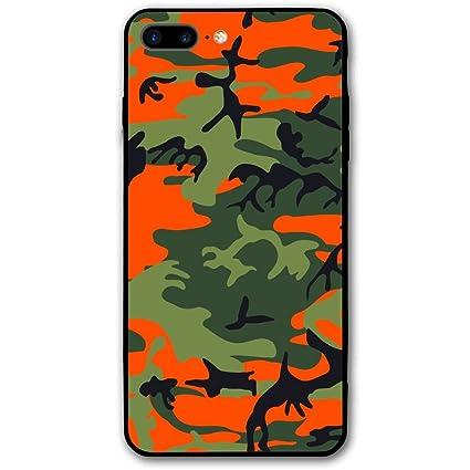 best website 329d5 2113c Amazon.com: Pabcdef Orange Camo IPhone 7 Plus/8 Plus IPhone 7/8 Plus ...