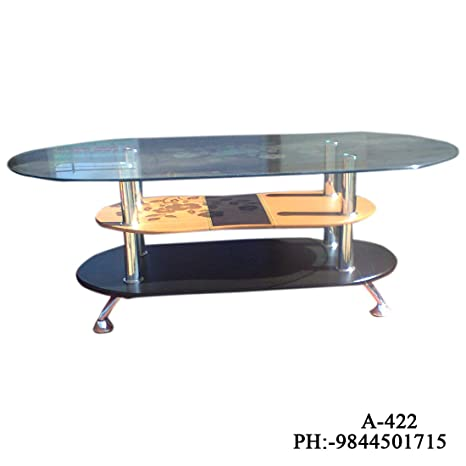 Generic Center Table Oval Top Glass Amazonin Home Kitchen