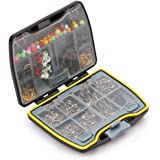 Fishing Accessories Set Carp Catfish Freshwater Saltwater Fishing Tackle Box - Hooks, Swivels, Double Loops, Spinners Etc