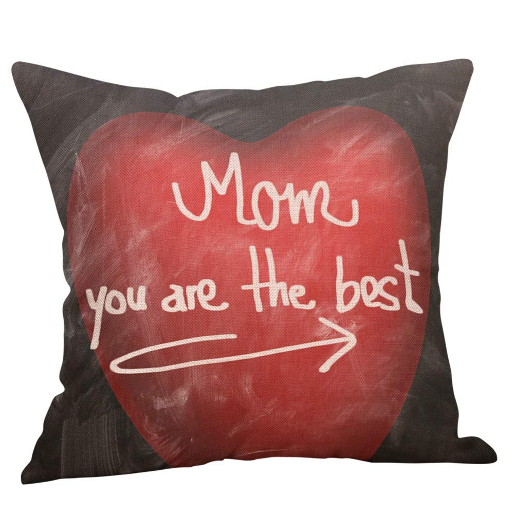 Pillow case Protector with Zipper,EOWEO Happy Mothers' Day Pillow Cases Sofa Cushion Cover Home Decor Pillow Case(45cm×45cm,Multicolor-B)