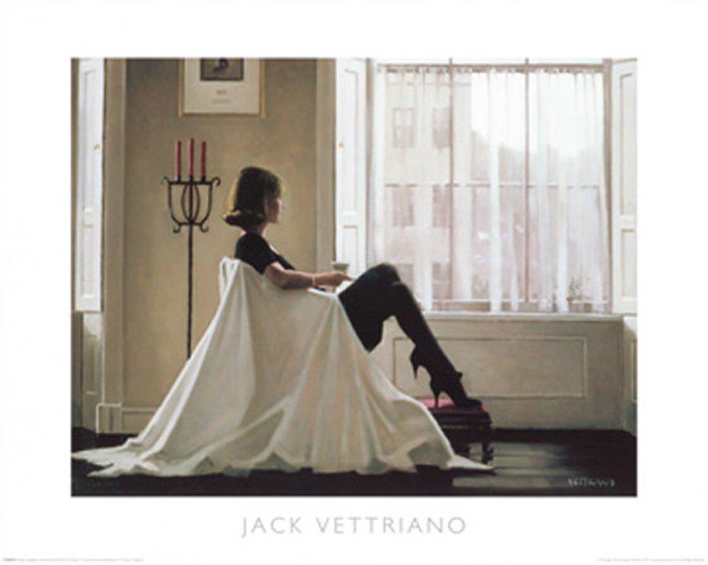 In Thoughts of You Incluye Artículo Adicional empireposter vett RIANO Impresión Art Print Gemälde Mujer en el sillón–Tamaño 50x 40cm Jack