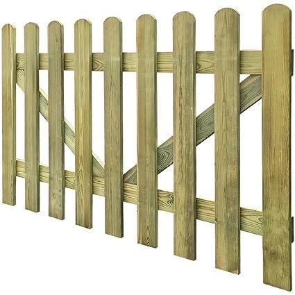 Cancello Per Steccato 2 Pz 300 X 100 Cm Legno Impregnato Questo