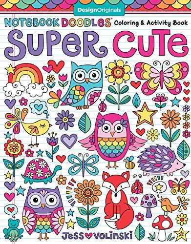 Notebook Doodles Super Cute Coloring Activity Book Design Originals 32 Adorable Animal Designs Beginner Friendly Relaxing Creative Art Activities