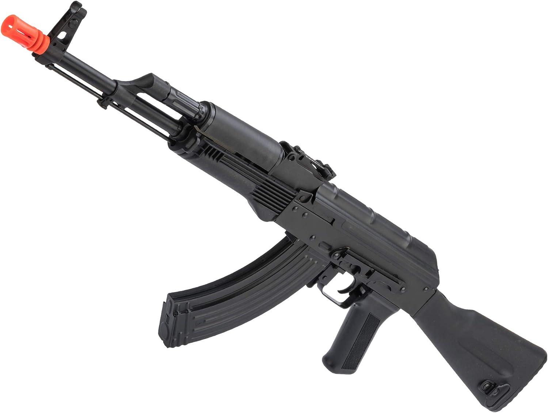 Evike Airsoft - LCT Stamped Steel LCK74M-E AK EBB AEG Rifle w/Black Polymer Furniture
