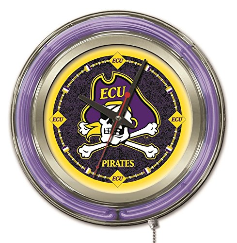 Holland Bar Stool Company NCAA East Carolina Pirates Double Neon Ring 15-Inch Diameter Logo ()