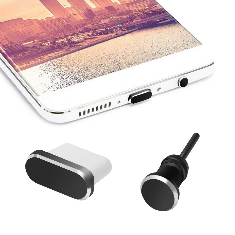 2 In1 Anti Card Retrieve Card Pin Mobile Phone Charge Port For Apple Iphone X 8 7 6s Plus 6 5s Se 5 Aluminium Alloy Dust Plug Durable In Use Dust Plug