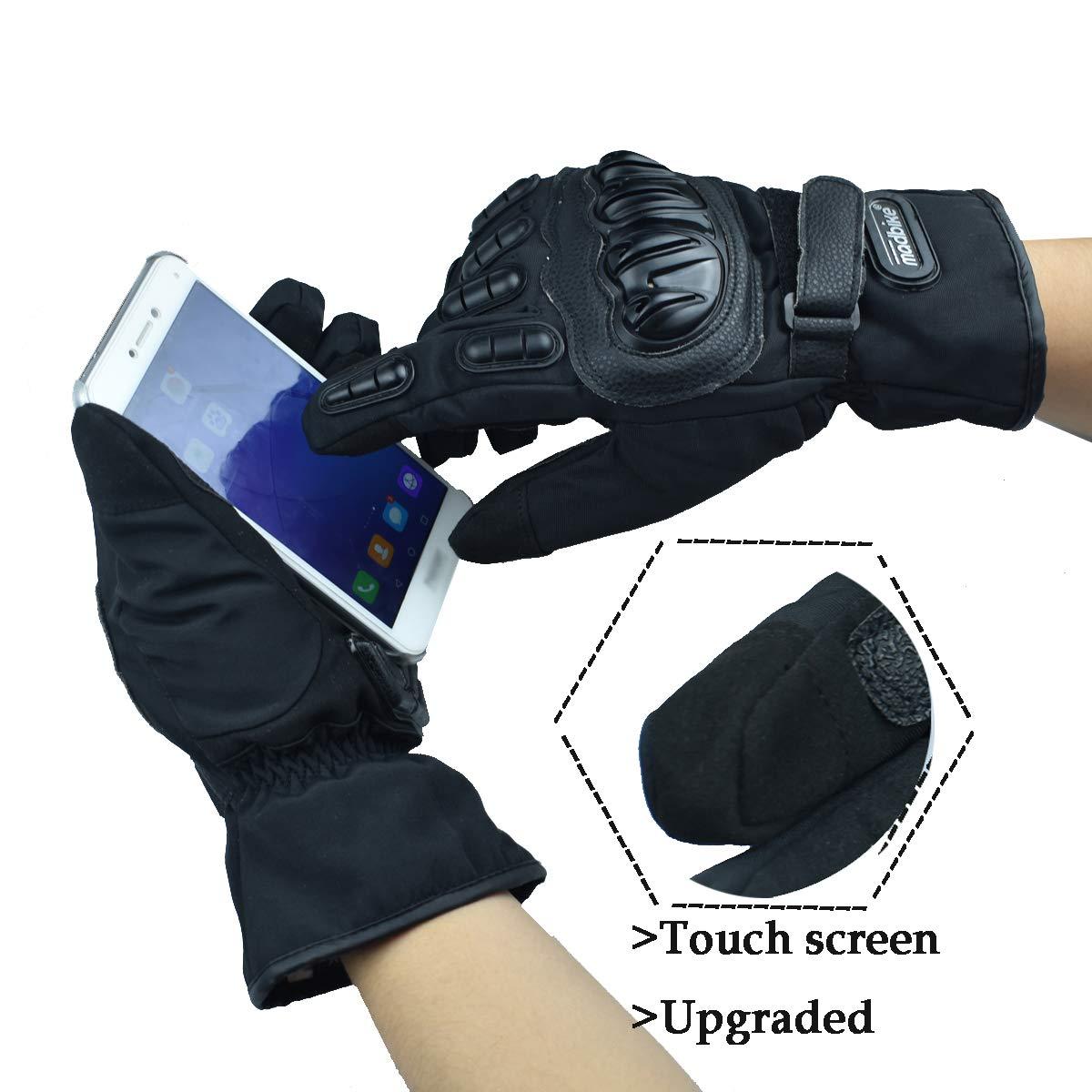 madbike motorcycle gloves waterproof moto gloves motorcycle winter blue-L