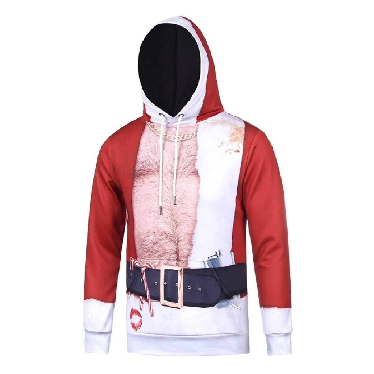 Winwinus Men Plus-Size Funny Pullover Christmas Xmas Sweatshirt Hoodies