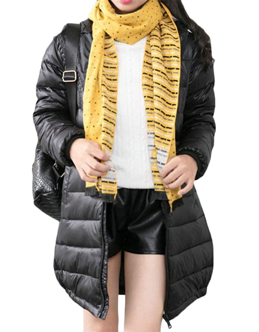 Conffetti Boys Girls Mid Length Outwear Hooded Light Weight Autumn Winter Down Coat