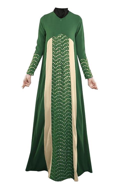 KKF vestidos árabe musulmana Nation con una larga falda de encaje ...