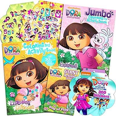 - Amazon.com: Dora The Explorer Coloring Book Super Set -- 3 Dora Coloring  Books With Bonus Sticker Bundle (Dora And Friends Party Supplies): Toys &  Games