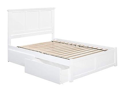 5eb04fdd781e Amazon.com: Atlantic Furniture AR8642112 Madison Platform Bed with 2 ...