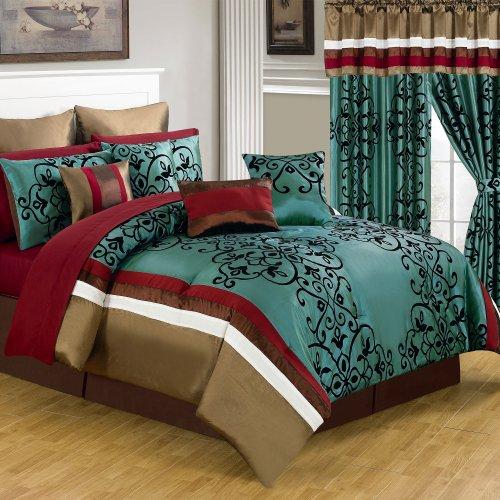 Lavish Home 66-00013-24pc-Q 24-Piece Room-in-a-Bag Eve Bedroom Set, - 24 Piece Queen Ensemble Bed