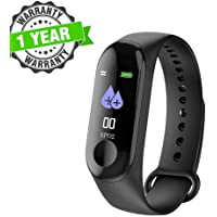 Kingsford M3 Fitness Activity Tracker Watch, Smart Fitness Band with Step Counter, Calorie Counter, Ultra-Long Battery,Bluetooth,Pedometer Etc for Redmi 6, Honor, iPhone and Other Smartphones