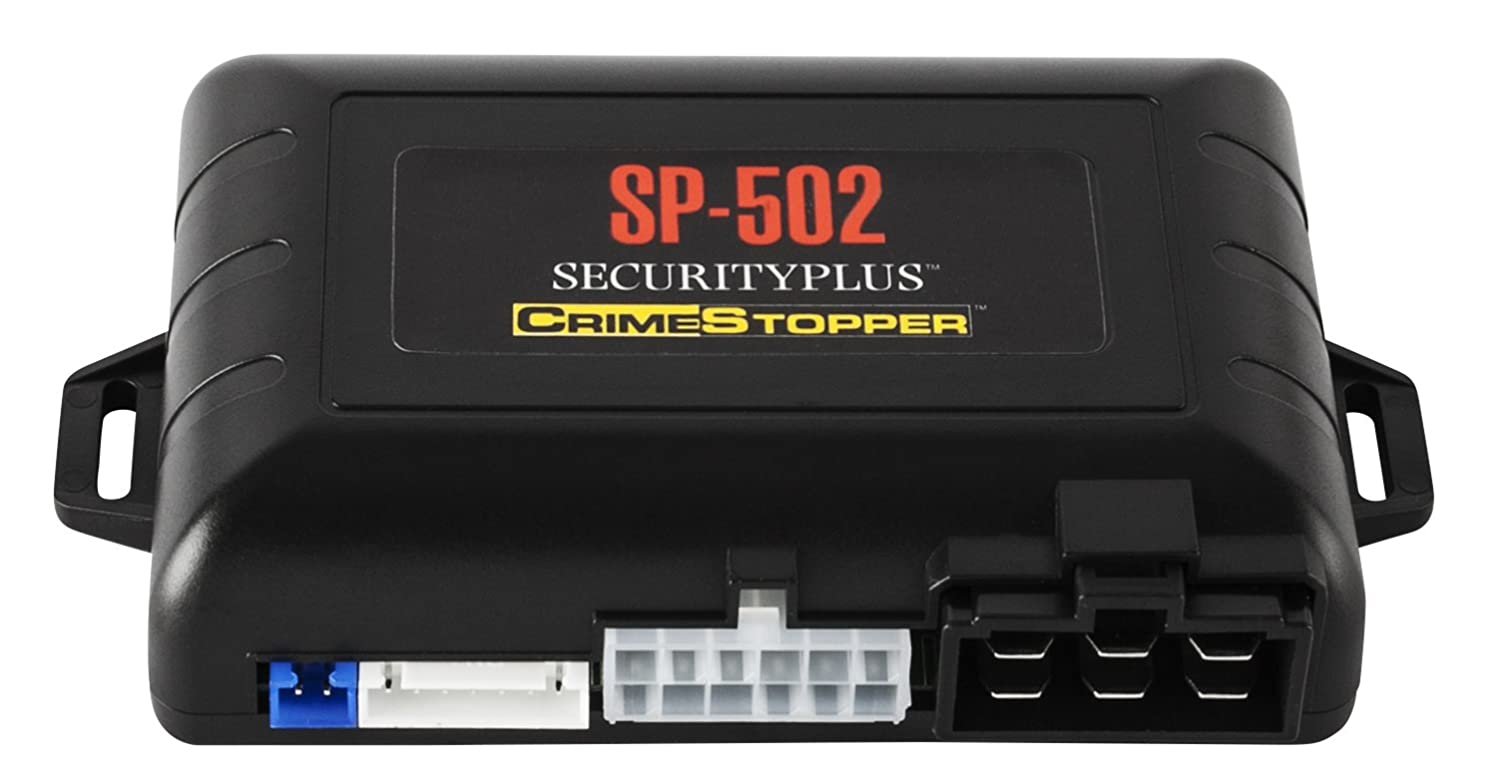 Crimestopper SP-502 2-Way LCD Paging Combo Alarm, Keyless Entry and Remote Start System with Rechargeable Remote