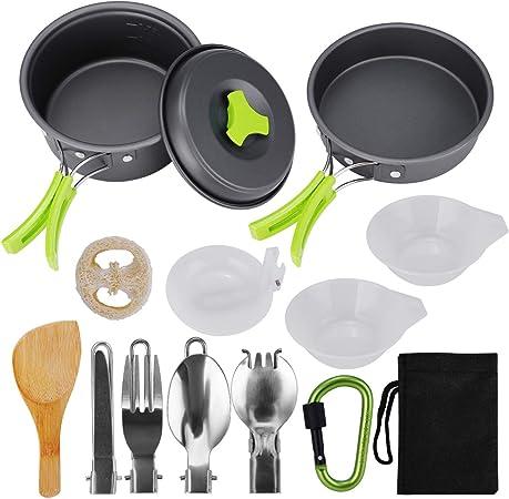 Tooart Set de Utensilios de Cocina para Camping - Utensilios ...