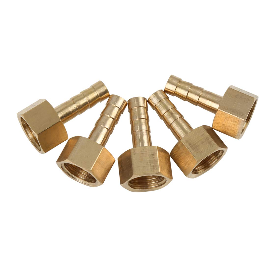X AUTOHAUX 6mm Brass Hose Barb Fitting Connector for Joiner Air Water Fuel Pipe