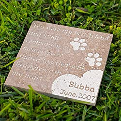 Personalized Memorial Pet Headstone Customized - Best Friend - 6 x 6 Noce Honed & Filled