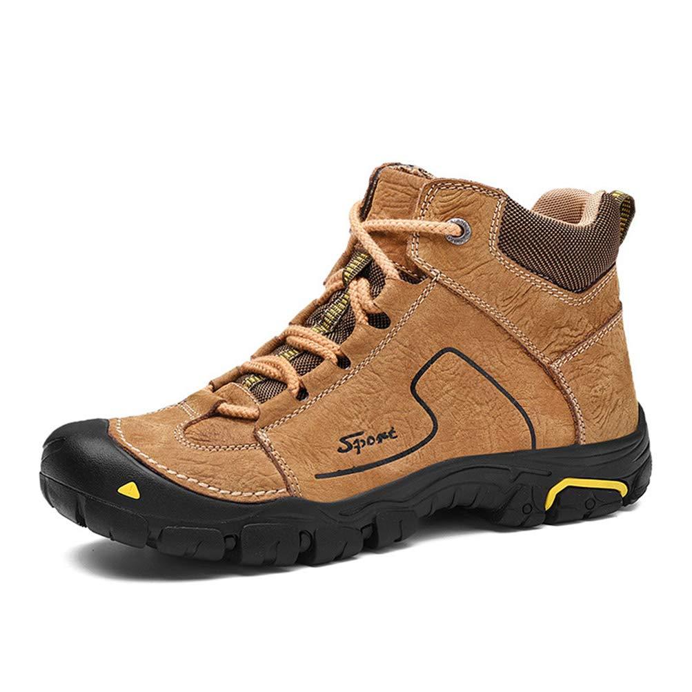 Qianliuk Winter Outdoor Wanderschuhe Männer Große Größe Runde Kopf Leder Plus Samt Schuhe Herren Wasserdichte Freizeit Warme Baumwolle Schuhe