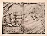 1945 Photogravure Study Drapery Figure Head Raphael Renaissance Silverpoint Man - Original Photogravure