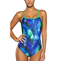 CharmLeaks Women Sports Strappy One Piece Swimming Costumes Athletic Swimwear