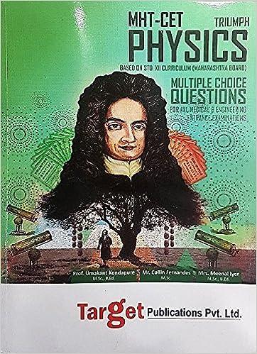 Target MHT CET Triumph Physics: Amazon in: Umakant Kondapure, Collin