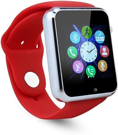 fatmoon gsm 2 G Reloj Inteligente teléfono, inalámbrico Desbloqueado Reloj teléfono Celular para Android iPhone, Samsung Galaxy Note Serie, nexcus, HTC etc.: Amazon.es: Electrónica