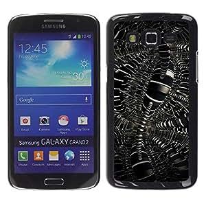 Paccase / SLIM PC / Aliminium Casa Carcasa Funda Case Cover para - Spine White 3D Art Abstract - Samsung Galaxy Grand 2 SM-G7102 SM-G7105