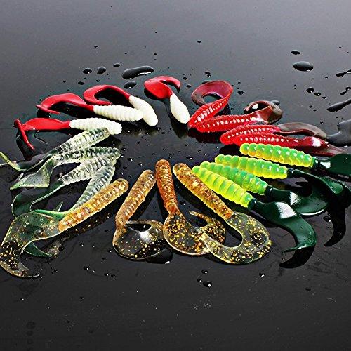 sougayilang-100pcs-5-color-gulp-worm-minnow-grub-soft-bait-artificial-fishing-lure