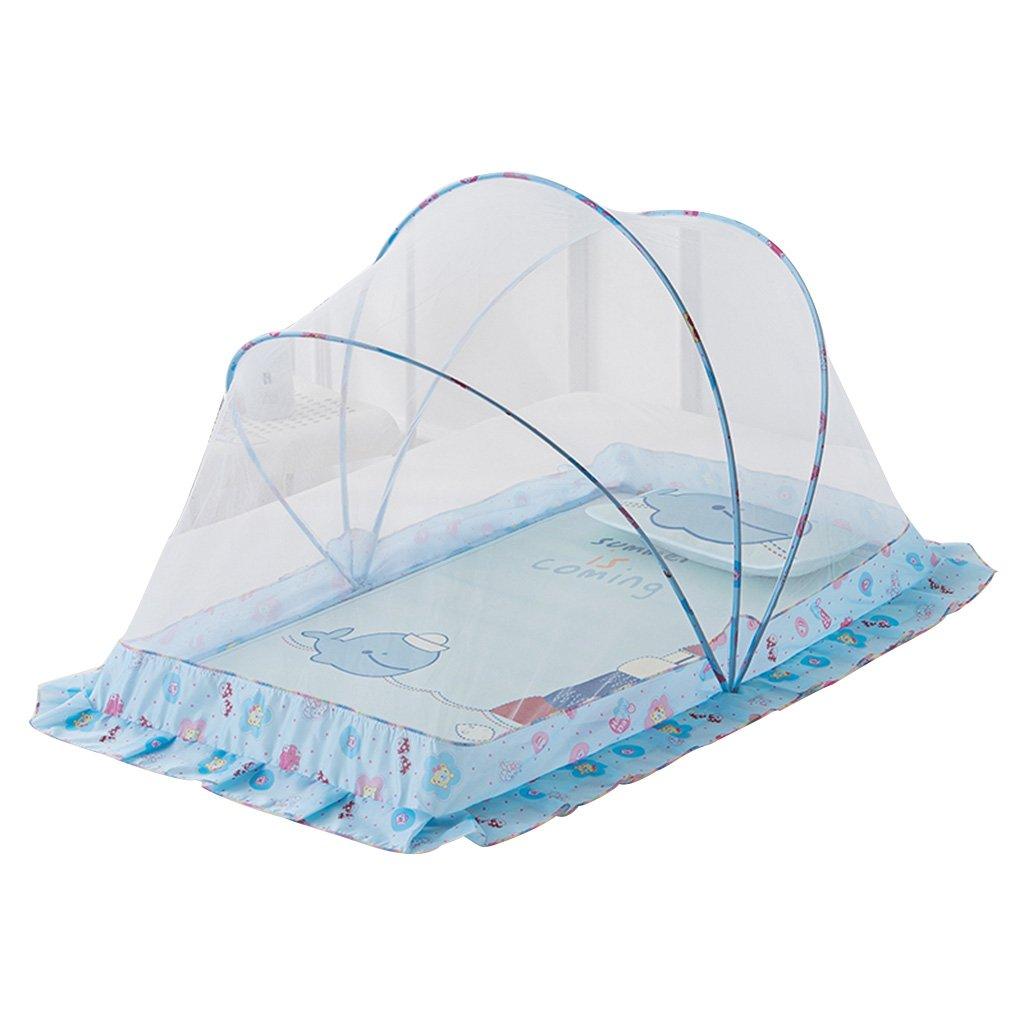 Moskitonetze Baby Faltbare Polyester Eine Sekunde öffnet großen Raum Stilles Design Wetter- & Sichtschutz (Farbe : Blau, Größe : 22  39  24 inches)