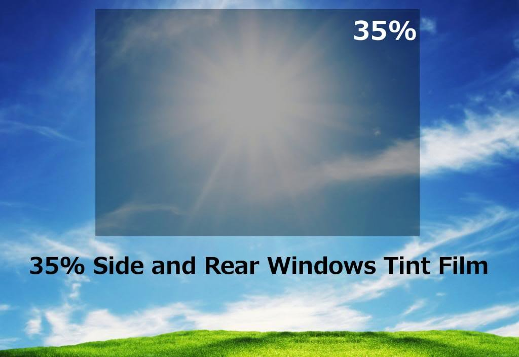 35/% shade color 36 Inches by 10 Feet Window Tint Film Roll for privacy and heat reduction