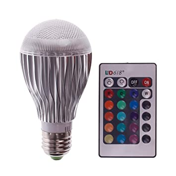 Výsledok vyhľadávania obrázkov pre dopyt rgb led light bulb with remote