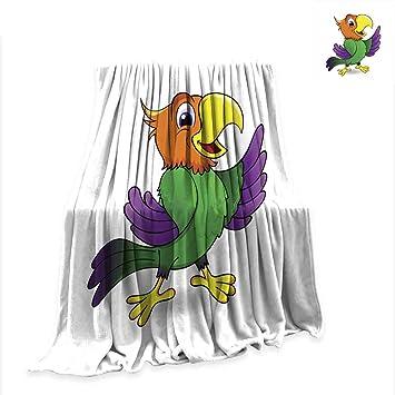 Amazon.com: Anniutwo - Manta con diseño de monstruo naranja ...