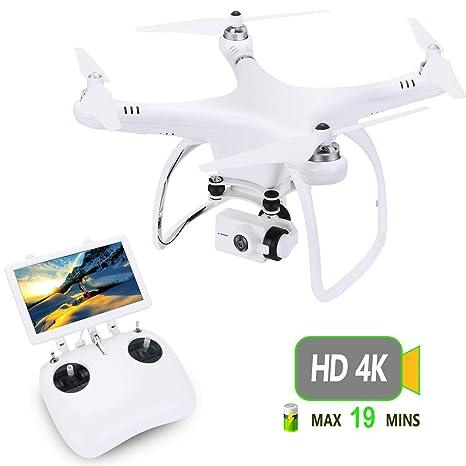 upair One 4 K HD cámara de dron con pantalla de 7 pulgadas FPV, 5.8 g
