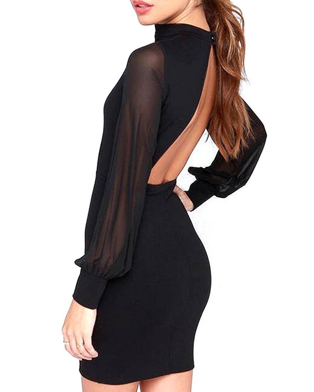 Generic Women Long Sleeve Bodycon Sexy Mini Cocktail Dress