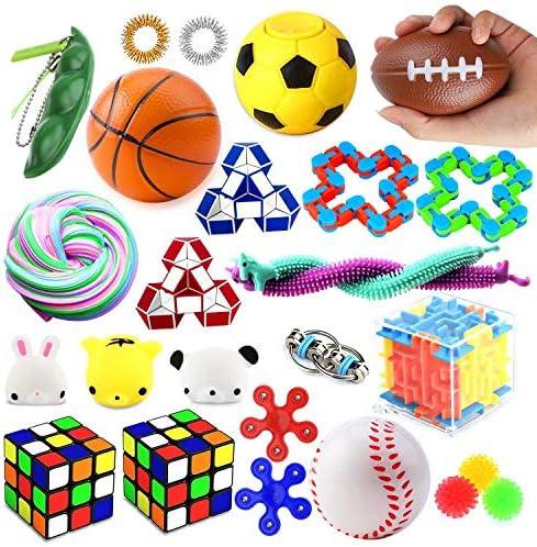 Juguete para Aliviar El Estr/és Juguetes Fidget Fidget Juguetes Fidget Toys Set Pack Fiddle Toys para Mejorar Enfoque para Autismo OCD ADHD Fidget Toys Antistress para Kids /& Adults