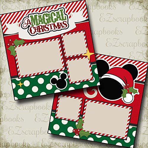 MAGICAL CHRISTMAS - Premade Scrapbook Pages - EZ Layout 2191