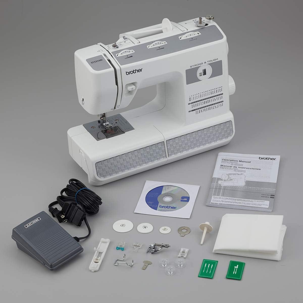 Brother RST531HD máquina de coser de 53 puntadas resistente y ...