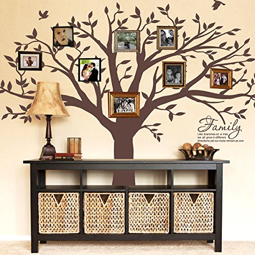 wall decal brown tree - 3
