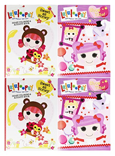Set of 4 Lalaloopsy Jumbo Coloring & Activity Book! Sweet as Honey - 96 Pages - Tear and Share Pages - Coloring and Activity Book Perfect for any Lalaloopsy (Diy Lalaloopsy Costume)