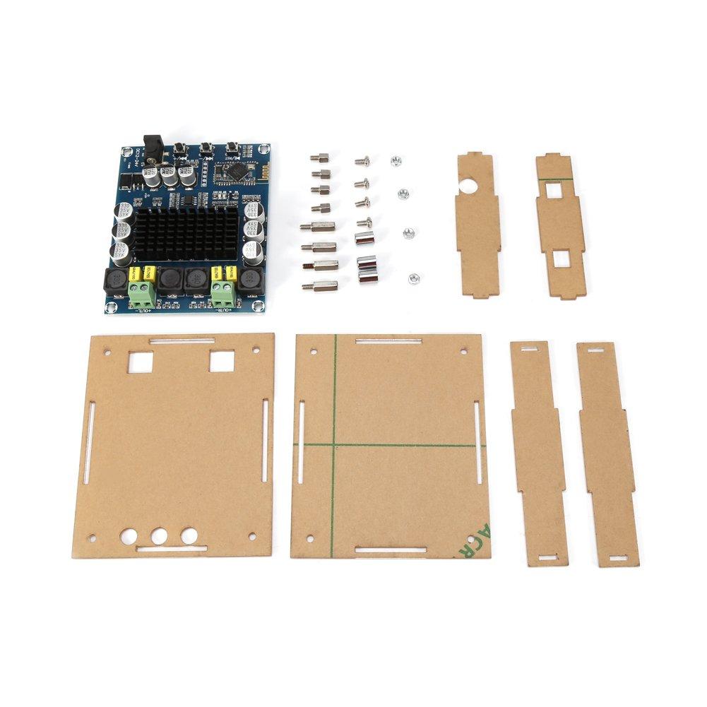 TPA3116D2 Bluetooth 4.0 Tarjeta de Amplificació n del Receptor de Audio Digital 120W + 120W DC 12V-24V Tablero del Amplificador Digital con Estuche de Acrí lico Walfront