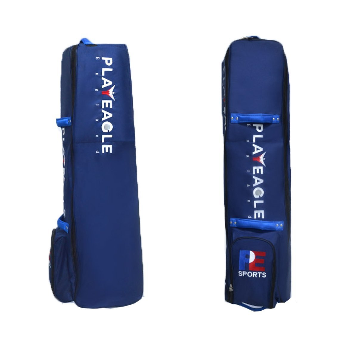 PLAYEAGLE Nylon Golf Travel Cover Bag with Wheels Thickening Pad Golf Holiday Travel Cover Case Waterproof Golf Aviation Bag