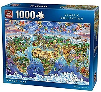 World map jigsaw puzzle 1000 pieces king by king international world map jigsaw puzzle 1000 pieces king by king international gumiabroncs Images