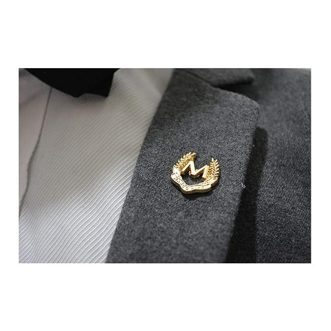 Amazon.com: YRY - Broche chapado en oro M Word para boda ...