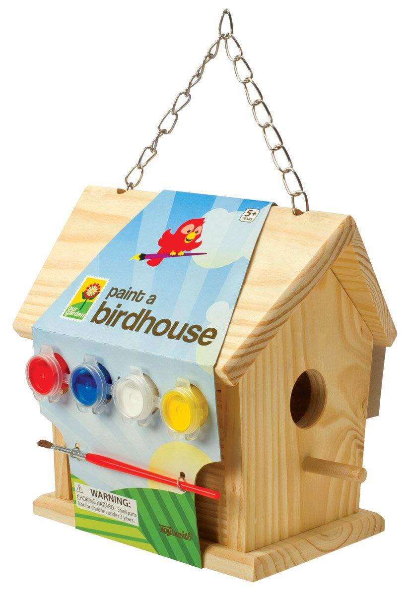 Amazon toysmith paint a birdhouse kit bird houses toys games solutioingenieria Gallery