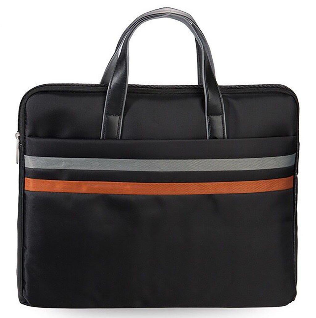 Document Bag Waterproof Portable Oxford Storage Organizer for Office School Business Black