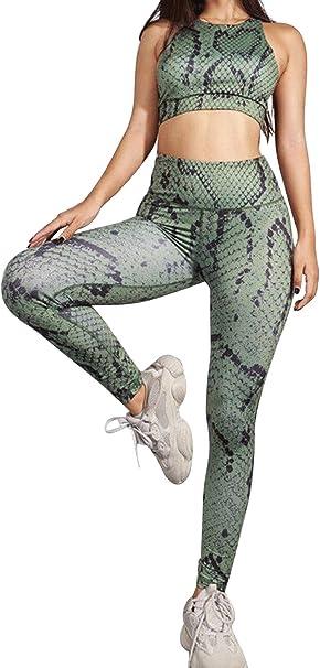 Trajes de Fitness Deporte Mujer Verano Estampado Serpiente ...