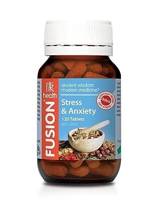 Amazon.com: Fusion Salud estrés y Ansiedad 120 tabletas ...